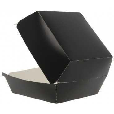 Caserole din carton pentru burger, 120 x 120 x 85 mm, negre