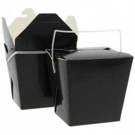 1400CA Meniuri din carton cu 4 clapete si maner,   950cc, negre
