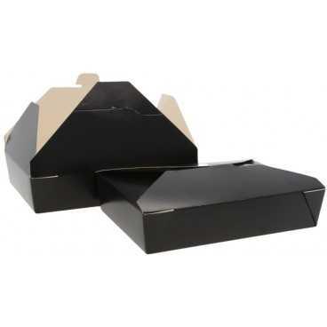 Meniuri din carton cu 4 clapete, 1000cc, negre