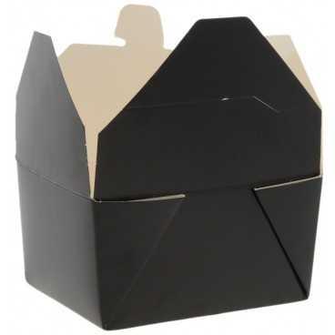 Meniuri din carton cu 4 clapete,   600cc, negre