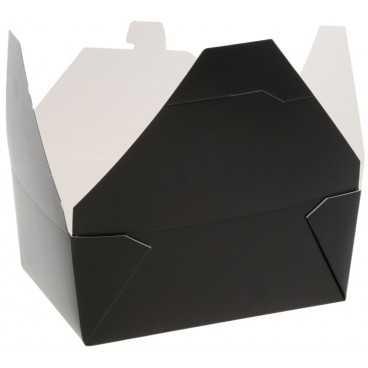 Meniuri din carton cu 4 clapete,   900cc, negre
