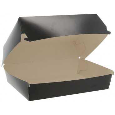 Caserole din carton pentru burger, 190 x 145 x 90 mm, negre