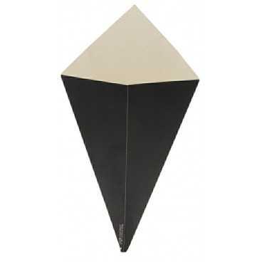 Corneturi din carton, 250gr, negre