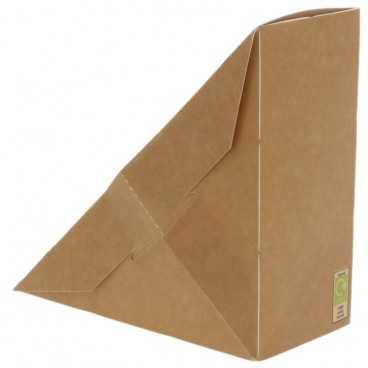 Caserole triunghiulare din carton pentru sandwich, SW60, kraft natur + alb