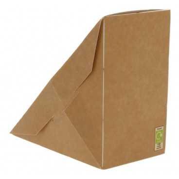 Caserole triunghiulare din carton pentru sandwich, SW70, kraft natur + alb