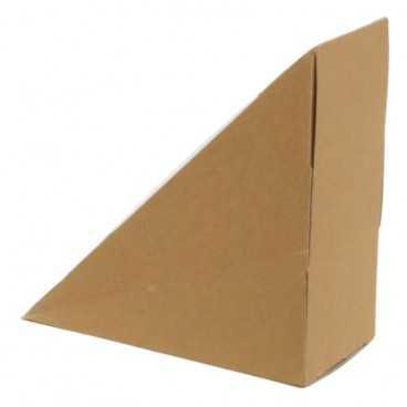 Caserole triunghiulare din carton pentru sandwich, SW50, kraft natur + alb