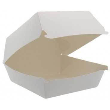 1400CABG Caserole din carton pentru burger, 120 x 120 mm, albe