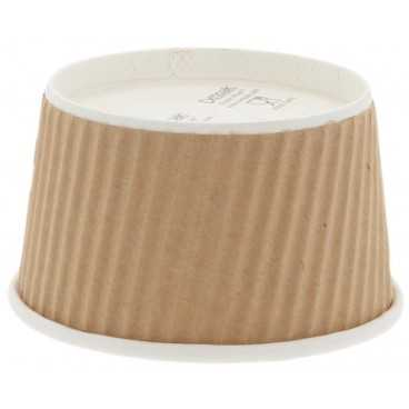 1300CS98P2 Boluri din carton cu perete dublu tip linii, Ø 98 mm, 240cc, kraft natur + alb