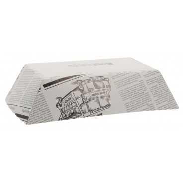 0950 Barcute din carton, 1200cc,   245 x 165 x 57 mm, ziar