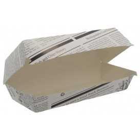 1400CABG Caserole din carton pentru panini, 195 x 75 mm, kraft natur