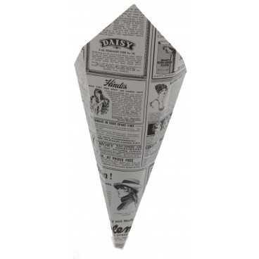 1500 Corneturi din carton, hexagon, 250gr, ziar