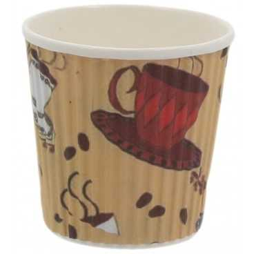 0200-CRTP3 Pahare din carton 4oz rippled TEACUP /50 20/BX