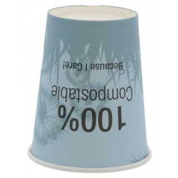 020080P1 Pahare din carton + PLA cu perete simplu, Ø 80 mm, 8oz, mix 4 culori
