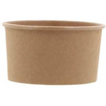 1200CS Cupe din carton, kraft natur, Ø 80 mm, 150cc