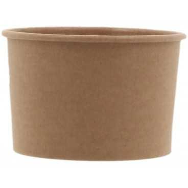 Cupe din carton, Ø 90 mm, 180cc, kraft natur