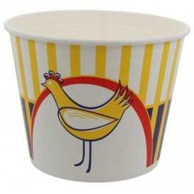 1300-03CSB Boluri din carton tip bucket, chicken, Ø 215 mm, 4500 cc + capace din carton