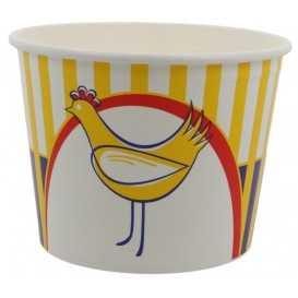 1300-03CSB Boluri din carton tip bucket, chicken, Ø 189 mm, 2550 cc + capace din carton