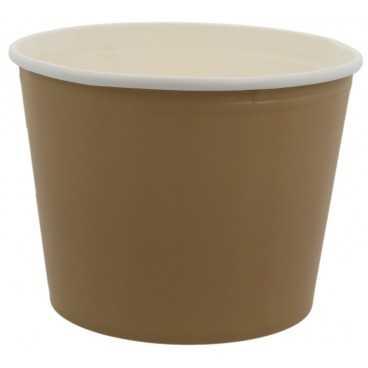 1300-04CS Boluri din carton tip bucket, kraft natur + alb, Ø 187 mm, 2550cc