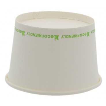 1300-04CS Boluri din carton, albe eco-friendly, Ø 90 mm, 260cc