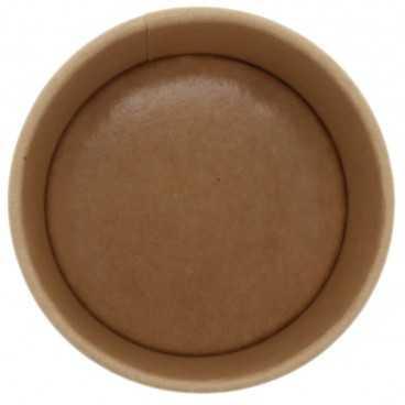 1300-04CS Boluri din carton, kraft natur, Ø 90 mm, 8oz