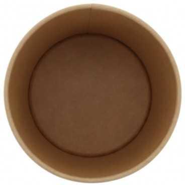 Boluri din carton,   Ø 98 mm, 16oz,  kraft natur