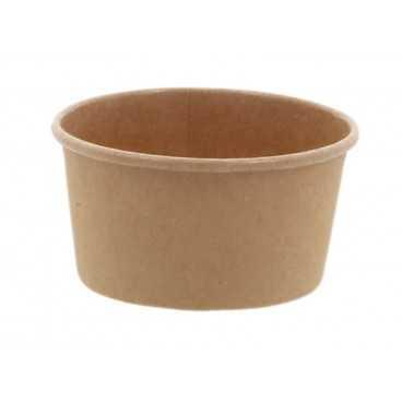 Cupe din carton, Ø 74 mm, 125cc, kraft natur