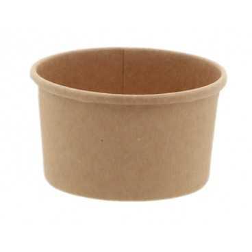 Cupe din carton, Ø 72 mm, 60cc, kraft natur