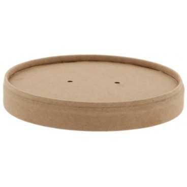 Z01 Capapce din carton, cu orificiu pentru aerisire, kraft natur, Ø 90 mm