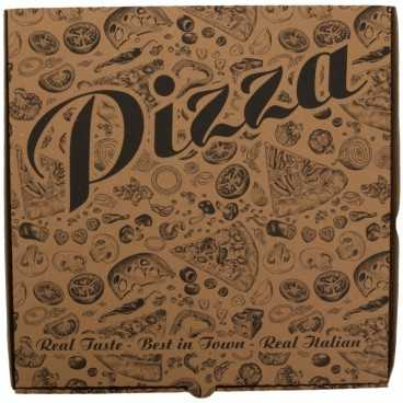 #PZA-4300 Cutii pizza, natur, colturi drepte, 320 x 320 x 35 mm