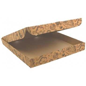 #PZA-4300 Cutii pizza, natur, colturi drepte, 280 x 280 x 35 mm
