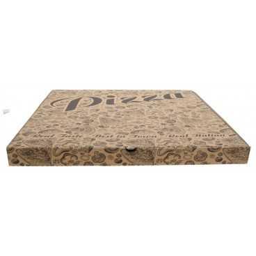 #PZA-4300 Cutii pizza, natur, colturi dretpe, 500 x 500 x 40 mm