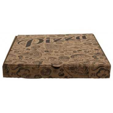#PZA-4300 Cutii pizza, natur, colturi drepte, 300 x 300 x 35 mm