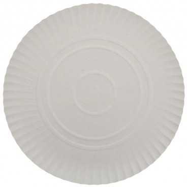 #GLT-3850 Farfurii albe din carton R2, Ø 263 mm