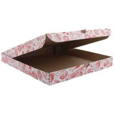 #PZA-4300 Cutii pizza, albe, colturi drepte, 300 x 300 x 35 mm