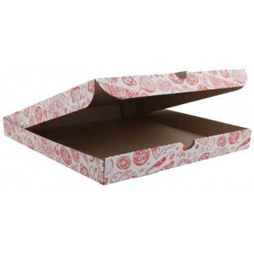 #PZA-4300 Cutii pizza, albe, colturi drepte, 320 x 320 x 35 mm