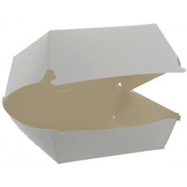1400CABG Caserole din carton pentru burger, 100 x 100 mm, albe