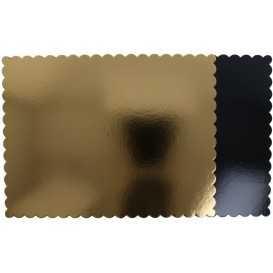 #GLT-3800 Plansete din carton, auriu + negru, 350 x 460 mm