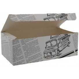 #CTR-CRTZIR-1400 Meniuri din carton cu clapeta, ziar, 225 x 120 x 77 mm