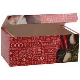 Meniuri din carton cu clapeta,   145 x 85 x 60 mm, street food