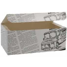 1400CA Meniuri din carton cu clapeta, 175 x 105 x 70 mm, ziar
