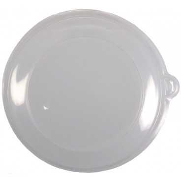 Z01 Capace din PET, transparente, plate, fara gaura, Ø 150 mm
