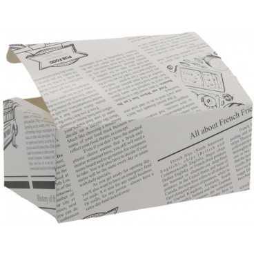 1400CA Meniuri din carton cu clapeta,   145 x 85 x 60 mm, ziar