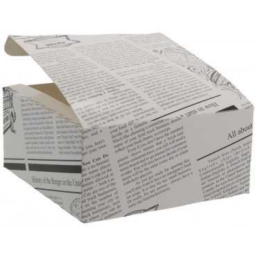 1400CA Meniuri din carton cu clapeta, 130 x 130 x 62 mm, ziar
