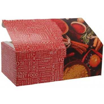 Meniuri din carton cu clapeta, 225 x 120 x 77 mm, street food