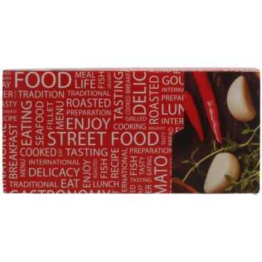 Meniuri din carton cu clapeta, 130 x 130 x 62 mm, street food
