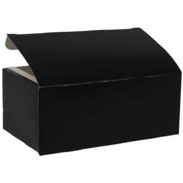 Meniuri din carton cu clapeta, 145 x 85 x 60 mm, negru