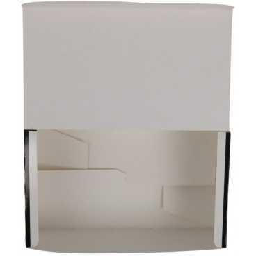 Meniuri din carton cu clapeta, 175 x 105 x 70 mm, negru