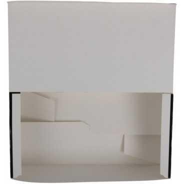 Meniuri din carton cu clapeta, 225 x 120 x 77 mm, negru