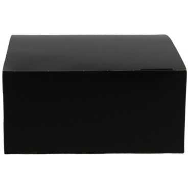 Meniuri din carton cu clapeta, 130 x 130 x 62 mm, negru