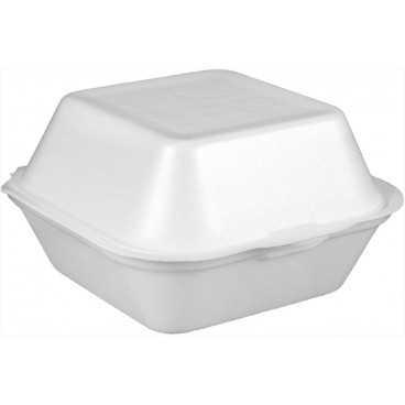 #CTR-PSE-1400 Caserole din PSE, albe, hamburger mic, 130 x 130 x70 mm